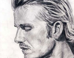 David Beckham Drawing by Ruth Burton Artist