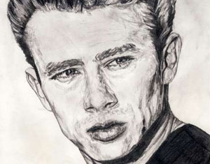 James Dean Drawing by Ruth Burton Artist