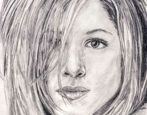 Jennifer Aniston Drawing by Ruth Burton Artist