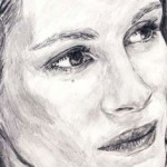 Julia Roberts Drawing by Ruth Burton Artist