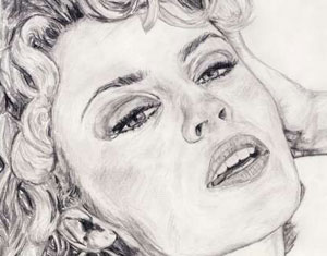 Kylie Minogue Drawing by Ruth Burton Artist