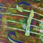 Violin F Holes Painting by Ruth Burton Artist