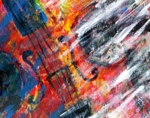 Violin Painting by Ruth Burton Artist