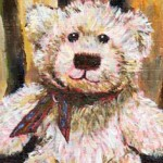 Teddy Bear Painting by Ruth Burton Artist