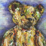 Old Teddy Painting by Ruth Burton Artist