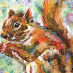 Squirrel Painting by Ruth Burton Artist