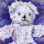Thread Bear Teddy Painting by Ruth Burton Artist