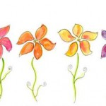 Flowers Watercolour Design by Ruth Burton Artist