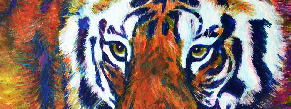 Prowling Tiger by Ruth Burton Artist