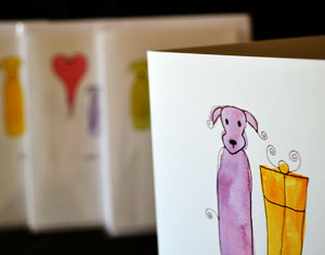cute dogs greetings card art prints ruth burton uk artist doodle dogs