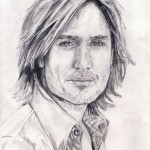 keith urban singer songwriter musician pencil drawing ruth burton uk artist celebrity portrait