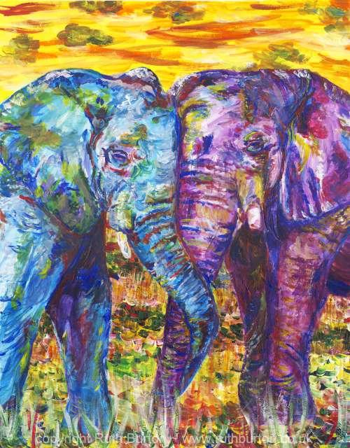 Elephant Artists Painting
